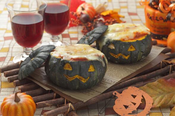 坊ちゃんかぼちゃのミートソースグラタン