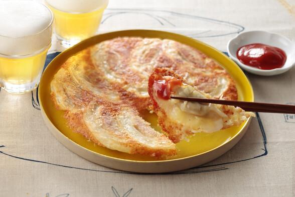 カリカリチーズはね付き餃子