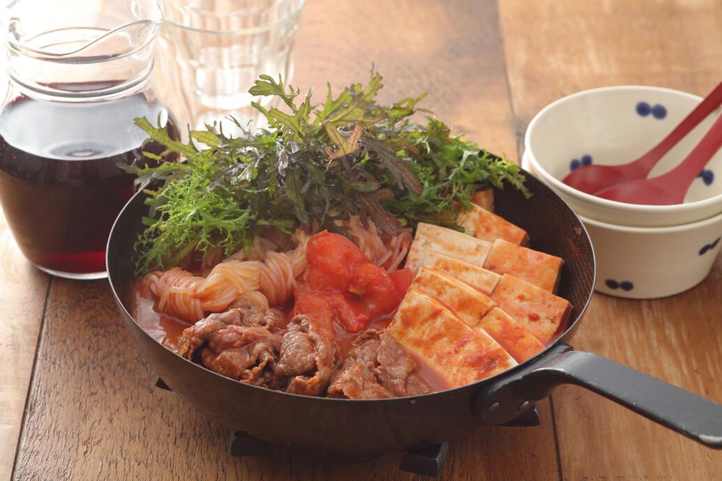 牛肉とトマトのすき煮
