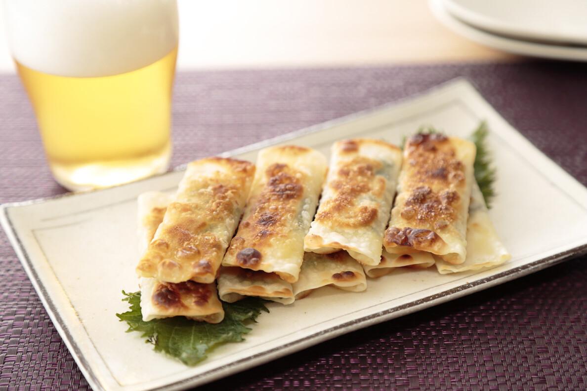 大葉とチーズの巻き餃子