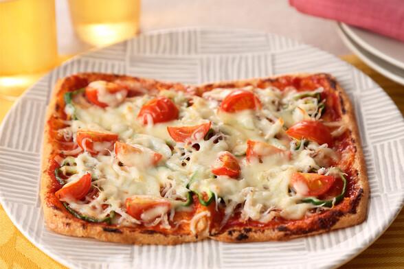 油揚げのしらすピザ