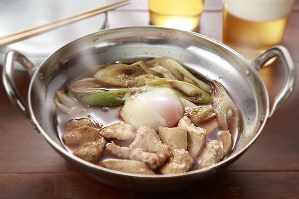 鶏肉と長ネギの簡単すき煮