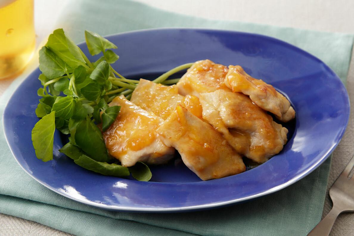 鶏むね肉の味噌マーマレード焼き
